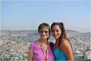 Beth and Monica in Israel