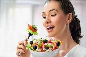 Woman Salad Healthy Brain