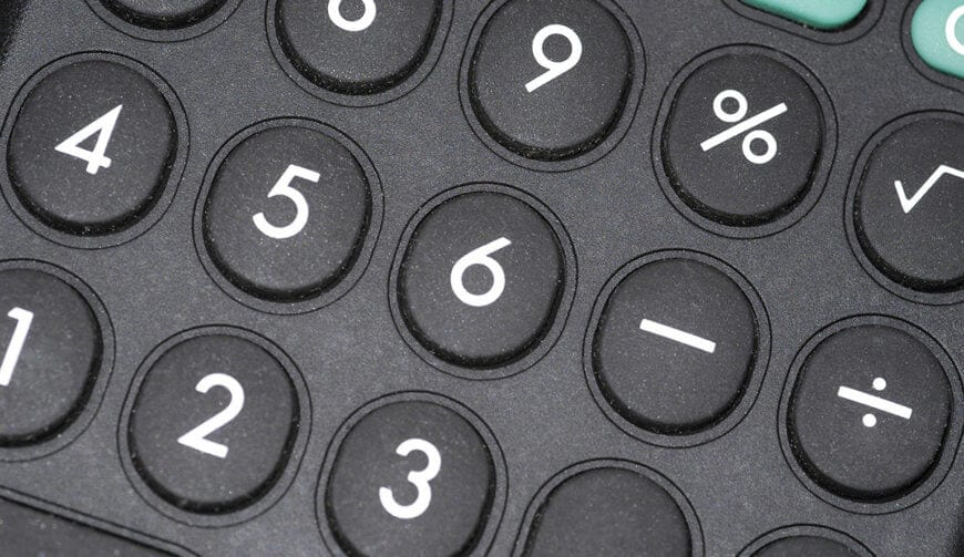 closeup of electronic calculator buttons