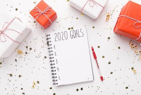 2020 goals notepad