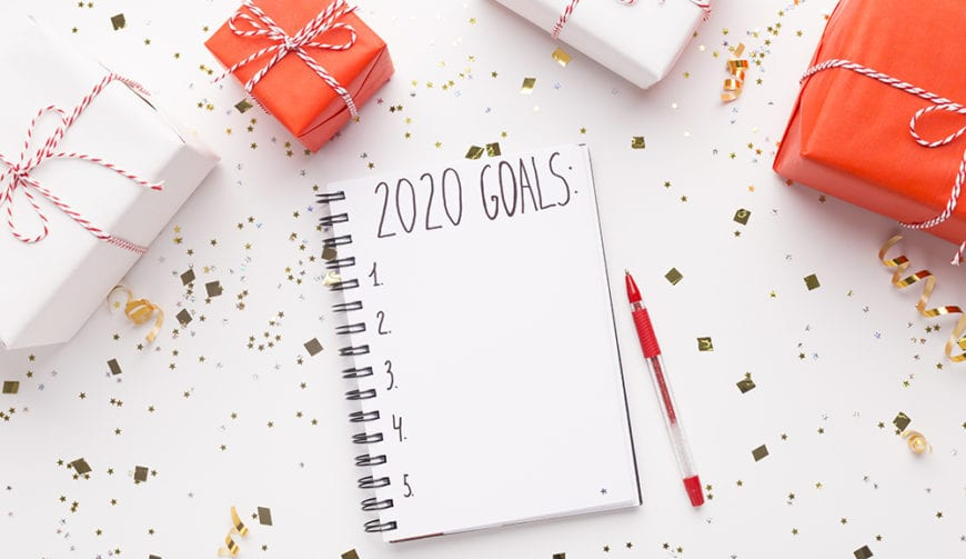 2020 goals notepad