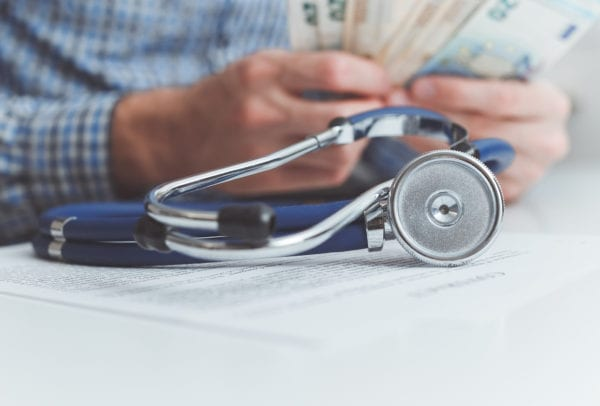 Finance and medicine. Health insurance concept.