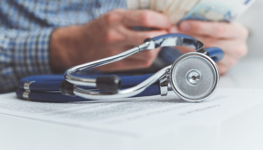 Finance and medicine. Health insurance concept.
