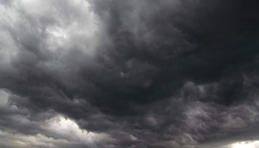 Image of the dark storm clouds - before the rain