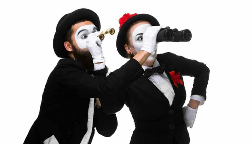 binocular mime looking