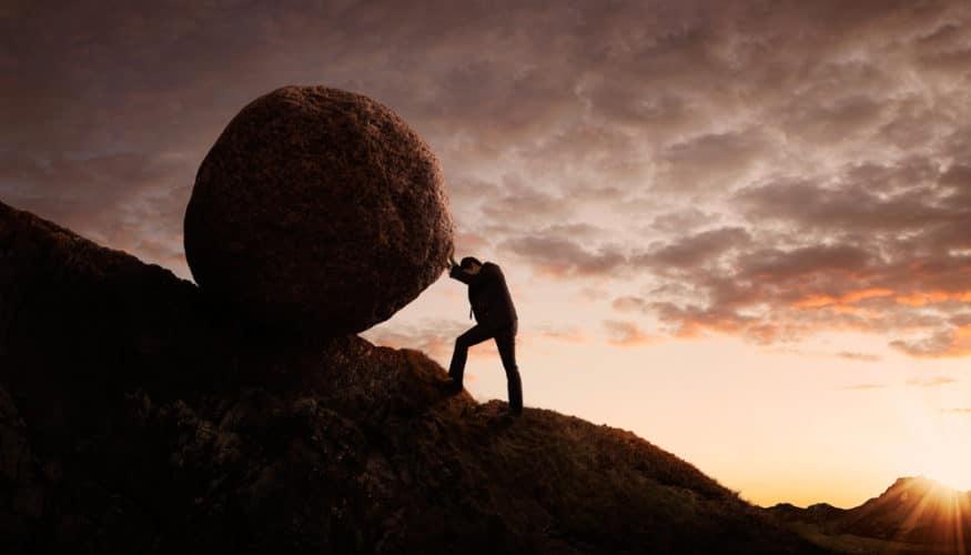 push rock uphill